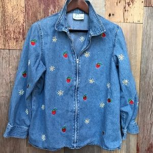 Quacker Factory Jean Jacket L